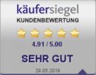 Unabhängige Kundenbewertungen von Käufersiegel.de